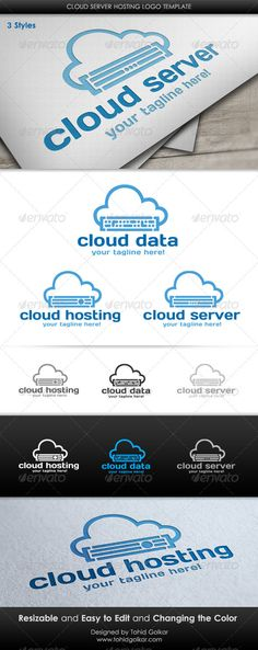 Cloud Server Hosting  - Logo Design Template Vector #logotype Download it here: http://graphicriver.net/item/cloud-server-hosting-logo-template/3543176?s_rank=273?ref=nexion