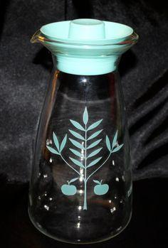 vintage pyrex turquoise juice carafe $16.99