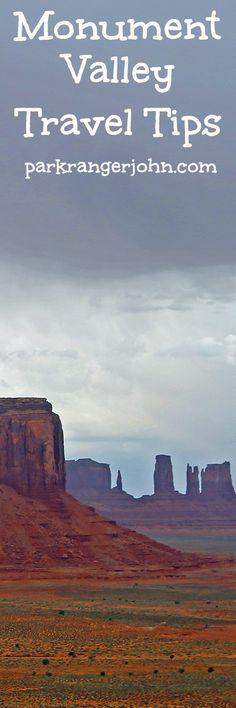 Monument Valley Navajo Tribal Park in Utah includes travel tips on travel, costs, road trip including the 17-mile loop scenic drive via @ParkRangerJohn