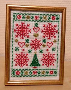 Christmas cross stitch pattern modern Christmas by MKDesignArt