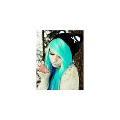 Blue Green Hair ❤ liked on Polyvore featuring hair and people