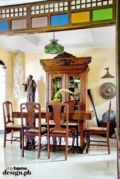 52 New Ideas Antique Furniture Bathroom Dining Rooms Small Floor Plans, Modern Floor Plans, Modern Filipino Interior, Filipino House, Interior Design Philippines, Hacienda Homes, French Furniture, Antique Furniture, Dining Room Design