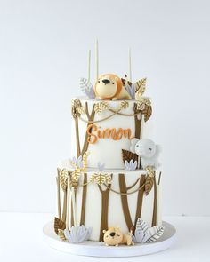 Lion Birthday, Dinosaur Birthday Cakes, Baby Birthday Cakes, Lion Cakes, Lion King Cakes, Lion Baby Shower, Alice In Wonderland Cakes, Safari Cakes, Jungle Cake