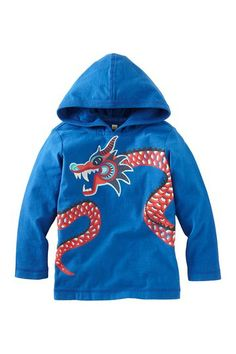 New Year Dragon Happy Hoodie (Toddler) by Tea Collection on @HauteLook