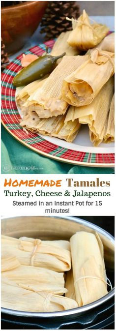 Homemade tamales may seem daunting to make, but this recipe will give you easy tips on how to make turkey and cheese & jalapeño tamales from ingredients found at most grocery stores. #Sponsored #tamales #mexicanfood #recipeoftheday #instantpot