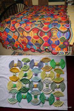 Crochet Feather, Spiral Crochet, Crochet Dreamcatcher, Freeform Crochet, Crochet Squares, Crochet Afgans, Crochet Fabric, Crochet Cushions, Crochet Art