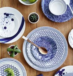 10 Beautiful & Bold Dinnerware Sets for Your Summer Table | LC Living Ethnic Home Decor, Modern Ceramics, Dinnerware Sets, Royal Doulton, Artisan, Plates, Dining, Tableware, Handmade