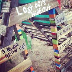 Lost Boys Hideout! Made this for my sons 6th birthday party .....or the backyard!!!!!!!