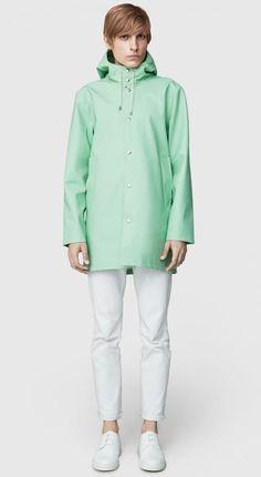 f01bacdb Bohemian Dandy - Stutterheim Stockholm Mint Stutterheim Raincoat, Outerwear  Women, Stockholm, Spring Summer