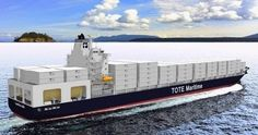Totem Ocean Trailer Express (TOTE) is planning to build two liquefied natural gas (LNG) powered shipping container vessels, as well as plans to convert two existing diesel-electric powered vessels to liquefied natural gas propulsion.