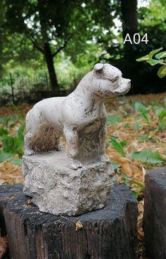 Staffordshire Bull Terrier ze sklepu PigeonArtPL na Etsy Staffordshire Bull Terrier, Pigeon, Garden Sculpture, Outdoor Decor, Etsy, Vintage, Vintage Comics