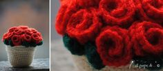 amigurumi roses, DIY, tutorial, free pattern download by Atelier Faggi