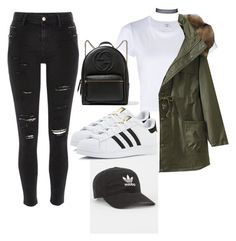 """""""Grunge Galm"""" by vinessaanne on Polyvore featuring RE/DONE, River Island, adidas and Gucci"""