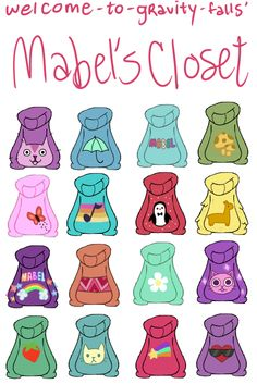 Welcome to Gravity Falls!, Mabel's collection of hand-knit sweaters! Love this show. :)