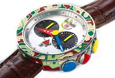 Could be under luxury watches, or other brands, or Unusual watches. Dream Watches, Luxury Watches, Cool Watches, Watches For Men, Alain Silberstein, Sporty Watch, Unusual Watches, Swiss Army Watches, Gold Rhinestone