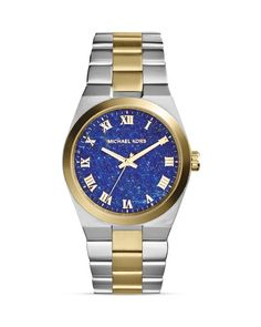 Michael Kors Two-Tone Channing Lapis Dial Watch, 38mm