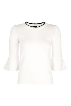 Scallop Trim Knitted Top