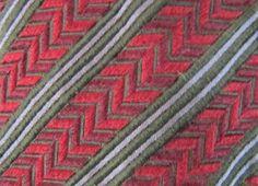 ERMENEGILDO ZEGNA Embroidered Red/Green/Gray Stripe Silk Neck Tie Made In Italy! #ErmenegildoZegna #Tie