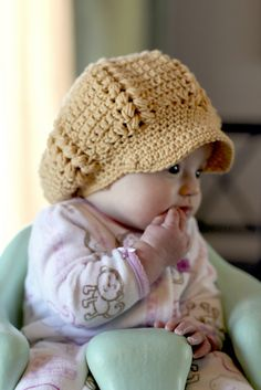 Gigi Newsboy Hat Crochet Pattern-Kids by Viktoria Gogolak