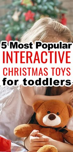Interactive toddler toys enhance early childhood development, they help develop creativity, improve dexterity, jog your child's memory, focus on coordination skills, and promote logical thinking. As with most toys for toddlers, interactive toys also develop sensory and motor skills! Christmas Toys For Toddlers, Toddler Christmas Gifts, Christmas Activities, Toddler Meals, Toddler Toys, Christmas Food Treats, Interactive Toys, Plush Dolls, Motor Skills