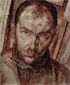 Self-portrait  - Kuzma Petrov-Vodkin