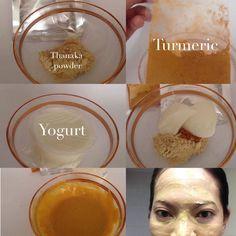 Thanaka facial mask