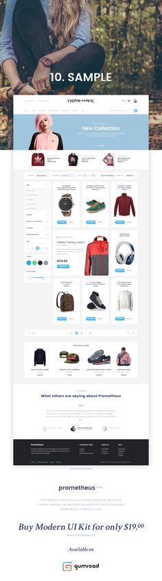"""다음 @Behance 프로젝트 확인: """"Prometheus UI Kit"""" https://www.behance.net/gallery/38264403/Prometheus-UI-Kit"""