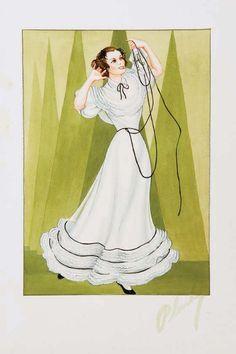 659: Walter Plunkett cost. sketch for Katharine Hepburn : Lot 659
