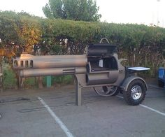Mobile (Smoker?) BBQ shaped like a gun