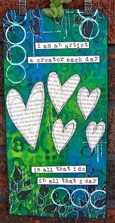 #papercraft #tag ten thirty-six arts and crafts ... ellen vargo: I Am An Artist - Dylusions Tag