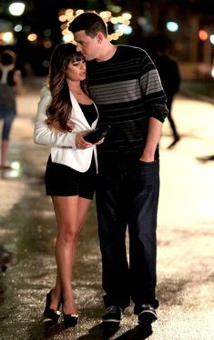 Lea Michele - Lea Michele and Cory Monteith Film 'Glee' in NYC