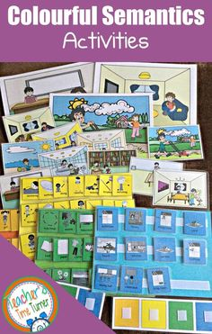 Do you use colourful semantics activities in your classroom? Take a look at this resource pack to support your children's speech therapy goals. This pack is aimed at children working towards sentences at a four word level. Speech Therapy Autism, Autism Teaching, Speech Language Therapy, Speech And Language, Language Activities, Teaching Activities, Learning Resources, Classroom Activities, Teaching Ideas