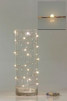 even look pretty on the outside of a vase. Wired Fairy Lights & DIY Wedding Company More The post even look pretty on the outside of a vase. Wire Fairy Lights, Fairy Lights Wedding, Diy Luz, Lighted Centerpieces, Centerpiece Ideas, Vase Ideas, Purple Centerpiece, Greenery Centerpiece, Bottle Centerpieces