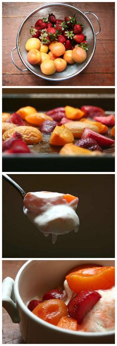#Roasted #Berries And Apriums With #French #VanillaIceCream
