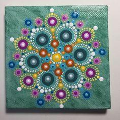Hand Painted Mandala on Canvas, Meditation Mandala, Dot Art, Calming, Healing, #465 by MafaStones on Etsy