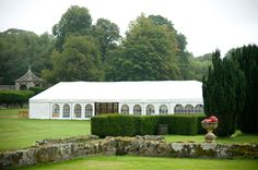 The marquee set up for a wedding at Slaugham Place in West Sussex #weddingvenue #sussexwedding #tentwedding