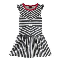 Zebra stripe flutter dress #teacollection
