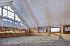 Indoor arena interior