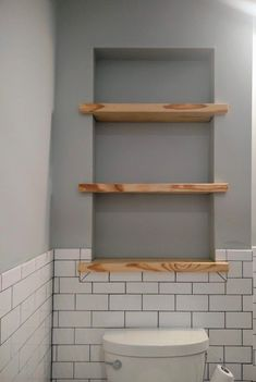 Love this for shelves above the loo if there is enough space between the studs! … Love this for shelves above the loo if there is enough space between the studs! Bathroom Renos, Laundry In Bathroom, Master Bathroom, Bathroom Renovations, Bathroom Cabinets Over Toilet, Small Full Bathroom, Bad Inspiration, Bathroom Inspiration, Upstairs Bathrooms