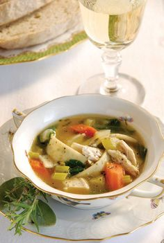 Chicken and Parsley Noodle Soup