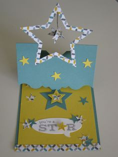 """stampin up easel Card with new framelits """" Star Kollektion""""  ANLEITUNG /  DIY found here : https://www.youtube.com/watch?v=ggQNe05u_hs"""