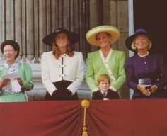 Sarah Ferguson and Princess Diana attend the 50th anniversary of the Battle of Britain, Buckingham Palace.