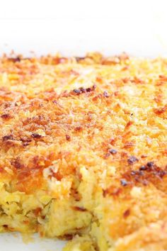 Copycat Boston Market Squash Casserole Recipe made with corn muffin mix, zucchini, yellow squash, onion, and cheddar cheese. Can be made ahead and frozen.
