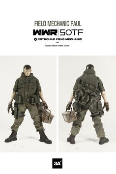 WWR SOTF Rothchild Field Mechanic Paul. Includes handgun, spanner, toolbox.