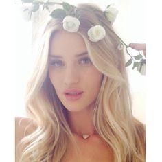 Hair & Flowers Rosie Huntington-Whiteley