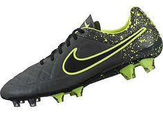 Nike Tiempo Legend V FG Soccer Cleats - Anthracite & Volt