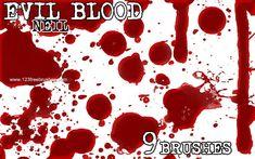 Evil Blood - Download  Photoshop brush http://www.123freebrushes.com/evil-blood-2/ , Published in #BloodSplatter, #GrungeSplatter. More Free Grunge & Splatter Brushes, http://www.123freebrushes.com/free-brushes/grunge-splatter/ | #123freebrushes