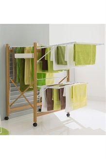 Etendoir à linge<BR>28 m - Blanc et naturel Dressing, House, Home Decor, Laundry Rooms, Furniture, Easy Diy, Home Ideas, Home, Haus