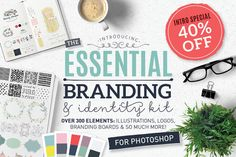 Graphic Design - Graphic Design Ideas - Essential branding kit for Photoshop by Lisa Glanz on Creative Market Graphic Design Ideas : – Picture : – Description Essential branding kit for Photoshop by Lisa Glanz on Creative Market -Read More – Branding Kit, Brand Identity, Branding Design, Logo Design, Visual Identity, Branding Ideas, Web Design, Design Blog, Graphic Design