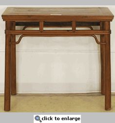 Antique Asian Side Table Half Ming Style Furniture Garden